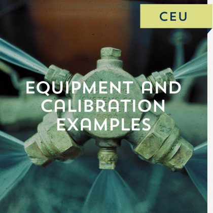 Equipment and Calibration Examples CEU