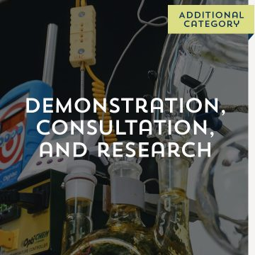 Demonstration, Consultation, and Research- Additional Category