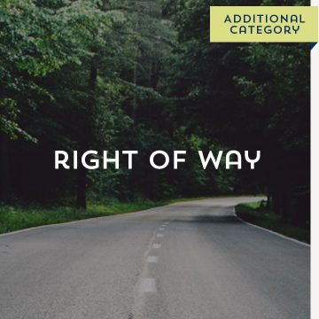 Right of Way - Additional Category